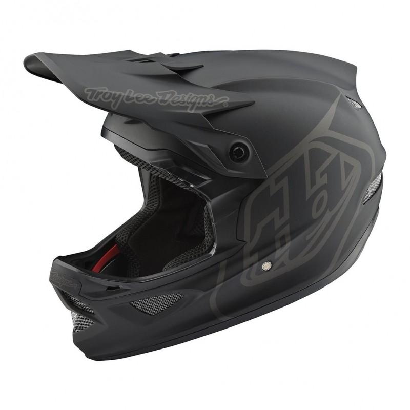 Troy Lee Designs D3 Fiberlite Full Face Helmet Black